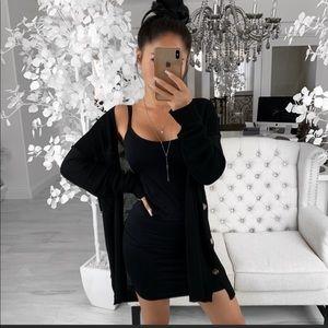 EkAttire Black Seamless Stretch Dress